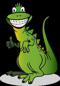 DINO, das Maskottchen der Praxis für Zahngesundheit PFZ Köln